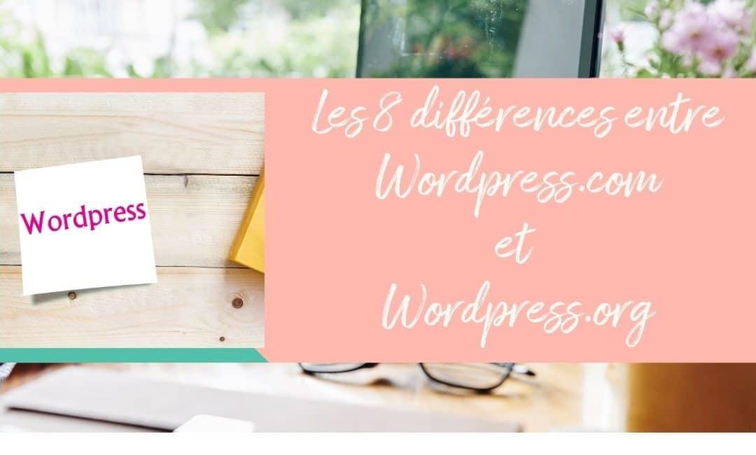 WordPress.com ou WordPress.org : 8 différences à connaitre