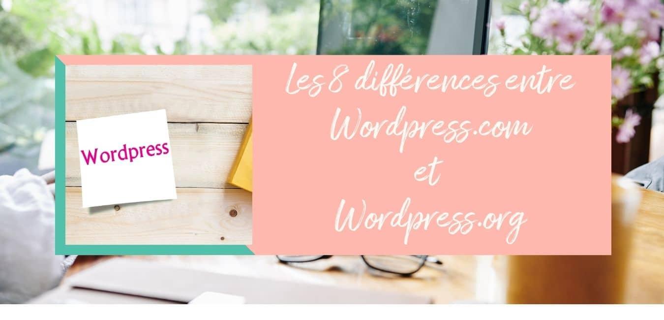 8 différences entre wordpress.com et wordpress.org