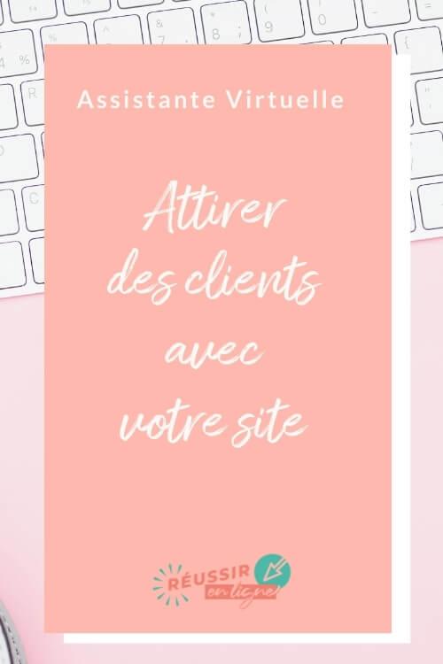 site web pour assistante virtuelle